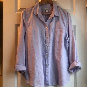 J Crew linen-cotton button down shirt